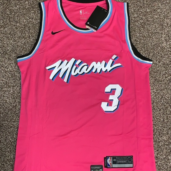 brand new af1bc bc819 Dwyane Wade 18-19 Miami Heat Earned Edition Jersey NWT